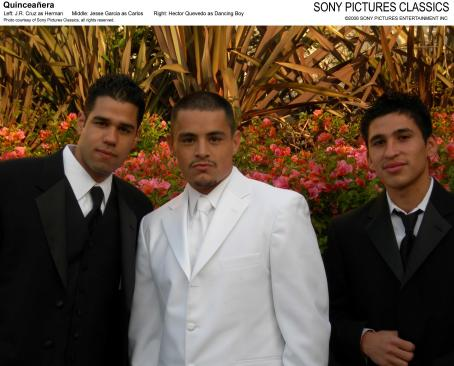 Jesse Garcia Left: J.R. Cruz as Herman; Middle:  as Carlos; Right: Hector Quevedo as Dancing Boy. Photo coustesy of Sony Pictures Classics, all rights reserved.