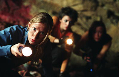 Alex Reid (Left to right) Shauna Macdonald as Sarah, Nora-Jane Noone as Holly and  as Beth in Lions Gate Films' The Descent.