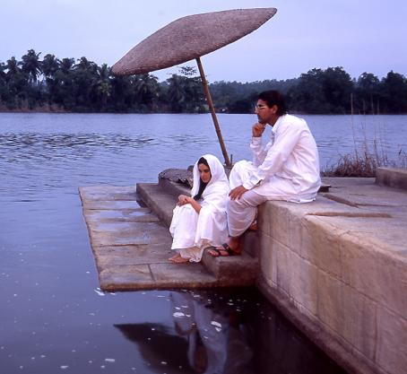 John Abraham  as Narayana and Lisa Ray as Kalyani in Fox Searchlight Pictures' Water - 2006
