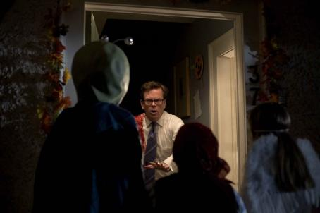 "Britt McKillip (L-r) ISABELLE DELEUCE as Sara, DYLAN BAKER as Steven Wilkins, ALBERTO GHISHI as Chip and BRITT MCKILLIP as Macy in Warner Bros. Pictures' and Legendary Pictures' horror thriller ""Trick 'r Treat,"" distributed by Warner Bros. Pi"