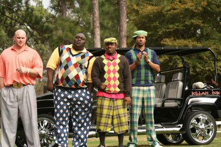 Big Boi Chase Tatum (Kidd Clean), Faizon Love (Big Large),  (C-Note) and Finesse Mitchell (Dread) star in Don Michael Paul's  Who's Your Caddy? Photo by: Courtesy of Dimension Films, 2007 / Fred Norris
