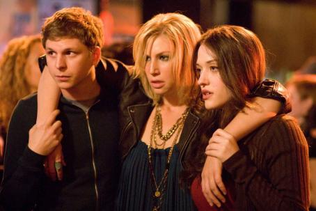 Ari Graynor Nick (Michael Cera), Caroline () and Norah (Kat Dennings) star in Columbia Pictures' comedy Nick & Norah's Infinite Playlist. © 2007 Playlist LLC.  All rights reserved.