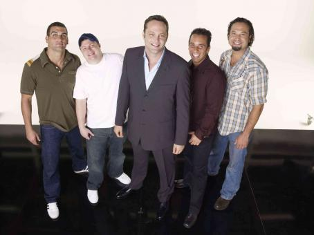 John Caparulo (From left to right) Bret Ernst, , Vince Vaughn, Sebastian Maniscalco and Ahmed Ahmed in Vince Vaughn's Wild West Comedy Show © 2007 Picturehouse