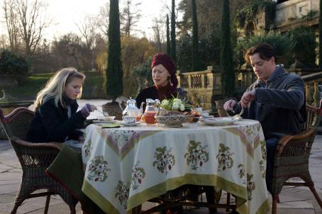 Meggie Folchart (L-R) ELIZA HOPE BENNETT as Meggie, HELEN MIRREN as Elinor and BRENDAN FRASER as Mo in New Line Cinema's fantasy adventure 'Inkheart,' also starring PAUL BETTANY, JIM BROADBENT and ANDY SERKIS. This film is distributed by Warner Bros. Pictures