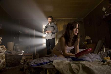 Kerr Smith Axel Palmer (, left) and Megan (Megan Boone) in MY BLOODY VALENTINE 3D. Photo credit: Michael Roberts