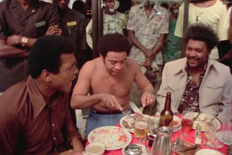 Muhammad Ali Left to Right: , Bill Withers, and Don King. Photo taken by Jeffrey Levy-Hinte ©, Courtesy of Sony Pictures Classics, All Rights Reserved.