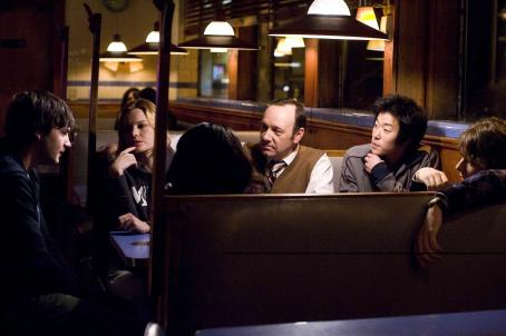 Kevin Spacey In Columbia Pictures' 21, the M.I.T. blackjack team - a group of students that has figured out how to take Vegas for millions - discusses the plan.  Left to right: Ben Campbell (Jim Sturgess), Jill Taylor (Kate Bosworth), Micky Rosa (),