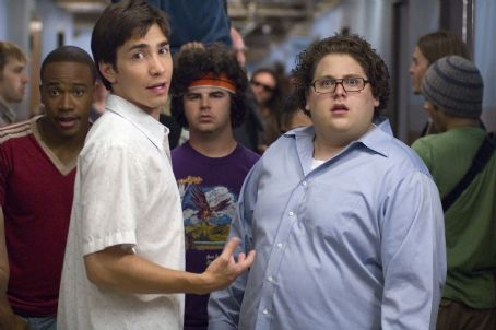 Jonah Hill Dorm life at South Harmon - Hands, Bartleby, Glen and Schrader.