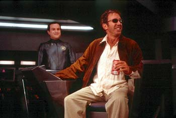 Enrico Colantoni  and Tim Allen in Dreamworks' Galaxy Quest - 12/99