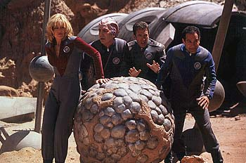 Gwen DeMarco Sigourney Weaver, Alan Rickman, Tim Allen and Tony Shalhoub in Dreamworks' Galaxy Quest - 12/99