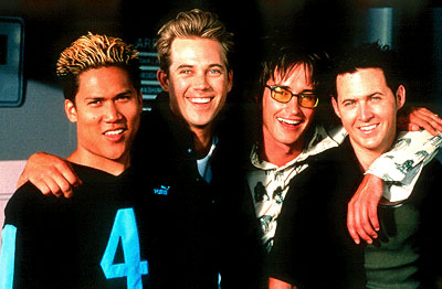 Dante Basco , Ryan Browning, Derek Hamilton and A.J. Buckley in Providence's Extreme Days - 2001