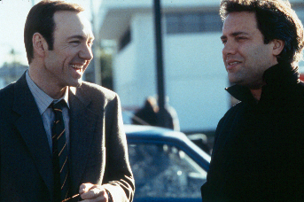 Kevin Spacey  and director Sam Mendes on the set of American Beauty