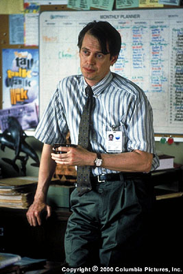 Steve Buscemi  portrays Cornell, a rehab counselor who uses his experiences as a former user to help Gwen and others overcome their own addictions in the Columbia Pictures presentation, 28 Days - 2000.