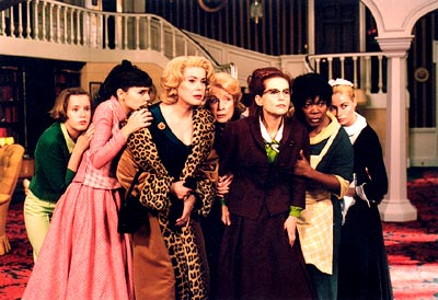 Isabelle Huppert Ludivine Sagnier (far left), Virginie Ledoyen, Catherine Deneuve, Danielle Darrieux, , Firmine Richard and Emmanuelle Beart in Focus Films' 8 Women - 2002