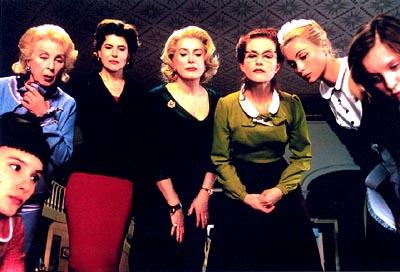 8 Women Virginie Ledoyen, Danielle Darrieux, Fanny Ardant, Catherine Deneuve, Isabelle Huppert, Emmanuelle Beart and Ludivine Sagnier in Focus Films'  - 2002