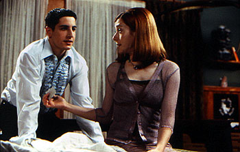 American Pie Jason Biggs is surprised by Alyson Hannigan candor about sex in Universal's  - 1999