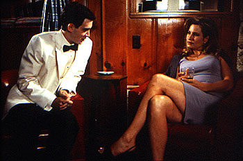 American Pie After the prom, Eddie Kaye Thomas attempts to Jennifer Coolidge in Universal's  - 1999