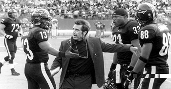 Jamie Foxx , Al Pacino and LL Cool J in Warner Brothers' Any Given Sunday - 12/99