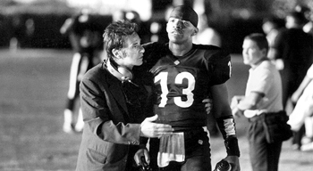 Jamie Foxx Al Pacino and  in Warner Brothers' Any Given Sunday - 12/99