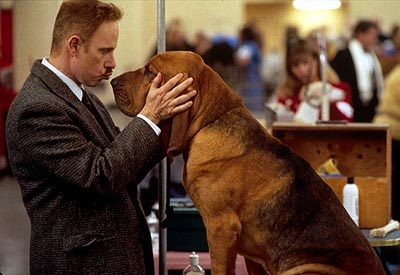 Christopher Guest  is Harlan Pepper, a fly fishing shop owner from Pine Nut, North Carolina, who hopes that his Bloodhound, Hubert, may be the first of his kind to win top prize at the dog show in Castle Rock's Best In Show - 2000