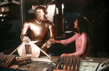 Embeth Davidtz Robin Williams and  in Touchstone's Bicentennial Man - 12/99