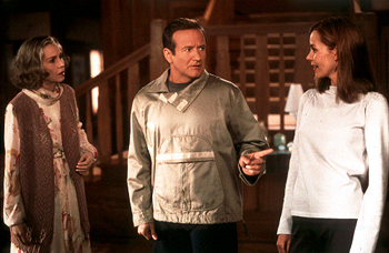 Embeth Davidtz , with Robin Williams (center) in Touchstone's Bicentennial Man - 12/99