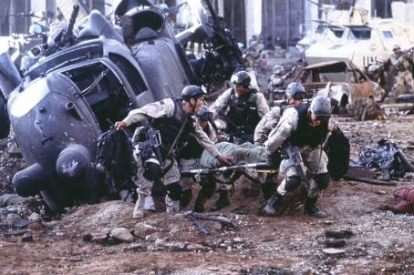 Jeremy Piven Ty Burrell (left) as Wilkinson and  (on stretcher) as Wolcott in Columbia's Black Hawk Down - 2001