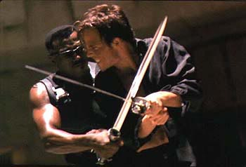 Wesley Snipes Blade () and Frost (Stephen Dorff) duel to the doom in New Line Cinema's Blade - 1998