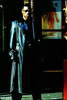 Wesley Snipes  as Blade, the vampire hunter, in New Line Cinema's Blade - 1998