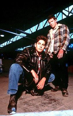 Sam Worthington Adam Garcia as Sean Okden and  as Mitchell in Fox Searchlight's Bootmen - 2000