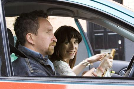 Eddie Marsan  as Scott, Sally Hawkins, as Poppy. Photo Credit: Simon Mein/Courtesy of Miramax Films.
