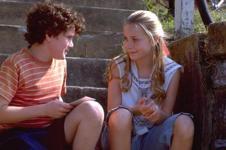 Mika Boorem Anton Yelchin and  in Warner Brothers' Hearts In Atlantis - 2001
