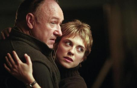 Gene Hackman  and Rebecca Pidgeon in Warner Brothers' Heist - 2001