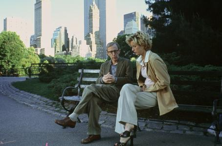 Woody Allen  and Tea Leoni in Dreamworks' Hollywood Ending - 2002