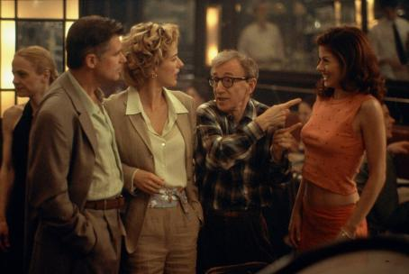 Woody Allen Treat Williams, Tea Leoni,  and Debra Messing in Dreamworks' Hollywood Ending - 2002