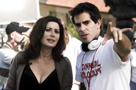 Edwige Fenech Director Eli Roth (right) works with actress Eli and Italian actress  on the set of his latest film HOSTEL: PART II. Photo credit: Rico Torres.