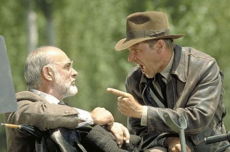Sean Connery and Harrison Ford in Paramount's Indiana Jones and the Last Crusade - 1989