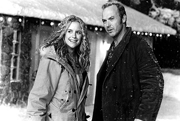 Jack Frost Kelly Preston and Michael Keaton in Warner Brothers'  - 1998