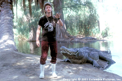 Joe Dirt Never one to back away from a challenge, Joe (David Spade) finds a part-time job as a Florida gator-wrestler in the Columbia Pictures presentation,  - 2001