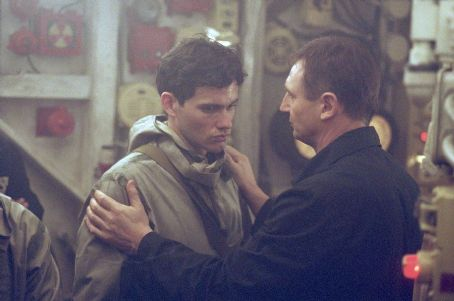 Christian Camargo  as Pavel and Liam Neeson as Mikhail Polenin in Paramount's K-19: The Widowmaker - 2002