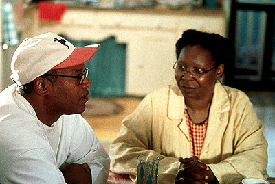 Kingdom Come Director Doug McHenry and Whoopi Goldberg on the set of Fox Searchlight's  - 2001