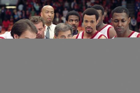 Robert Forster Coach Wagner () lays out the game plan to Los Angeles Knights players, from left, Joad (Roger Morrissey), Henderson (Timon Kyle) and Segretti (Josef Canon) in 20th Century Fox's Like Mike - 2002
