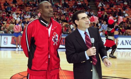 Morris Chestnut  and Eugene Levy in 20th Century Fox's Like Mike - 2002