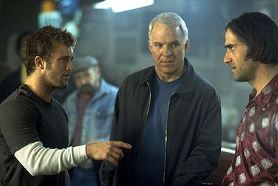Novocaine Scott Caan, Steve Martin and Elias Koteas in Artisan's  - 2001