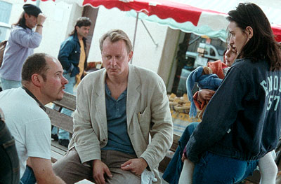 Passion of Mind Director Alain Berliner, Stellan Skarsgard and Demi Moore on the set of Paramount Classics'  - 2000