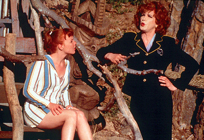 Psycho Beach Party Lauren Ambrose as Chicklet and Charles Busch as Captain Monica Stark in Strand's  - 2000