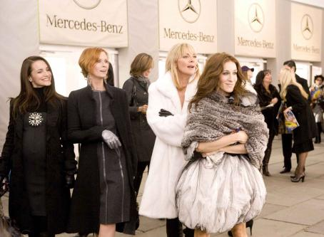 "Samantha Jones Kristin Davis (left) stars as ""Charlotte York-Goldenblatt"", Cynthia Nixon (center left) stars as ""Miranda Hobbes"", Kim Cattrall (center right) stars as """" and Sarah Jessica Parker (right) stars as ""C"