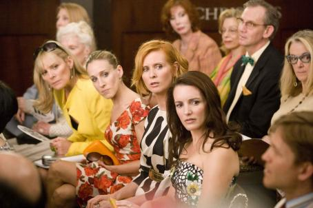 "Samantha Jones Kim Cattrall (left) stars as """", Sarah Jessica Parker (center left) stars as ""Carrie Bradshaw"", Cynthia Nixon (center right) stars as ""Miranda Hobbes"" and Kristin Davis (right) stars as ""Charlotte Yo"
