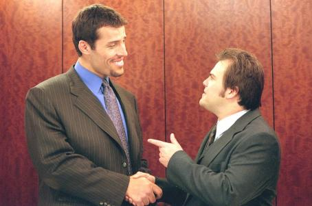 Shallow Hal Tony Robbins and Jack Black in 20th Century Fox's  - 2001