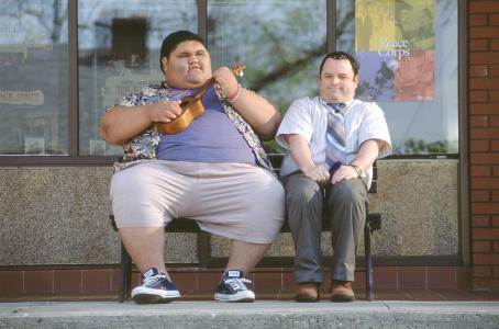 Shallow Hal Joshua Shintani and Jason Alexander in 20th Century Fox's  - 2001